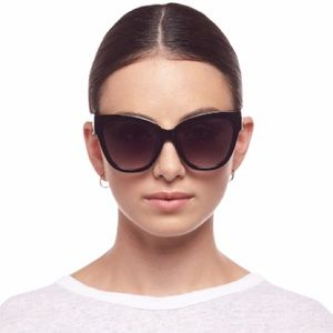 Le Specs Le Vacanze Black Cat Eye Sunglasses